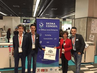 Les 1er et 2 févrierderniers, Skema Conseil Nice était au Salon des Entrepreneurs à Paris.